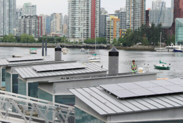 City marks first day of summer with new solar panels at Creekside Paddling Centre