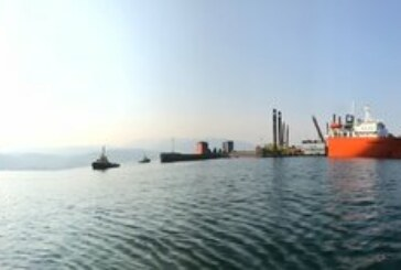 Photo: Heavy Lift vessel arrives in Kitimat harbour to start pre-construction work for LNG Canada