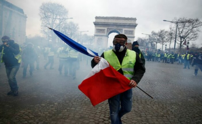 Paris on fire and Donald Trump – both orange on top and both brought to you by environmental extremism