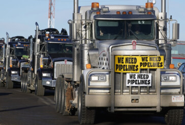 One of two planned protest convoys to Ottawa hits the brakes