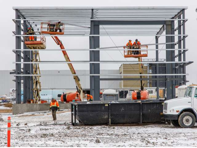 The new Aurora cannabis facility under construction in Medicine Hat, Alberta, as seen in late November.