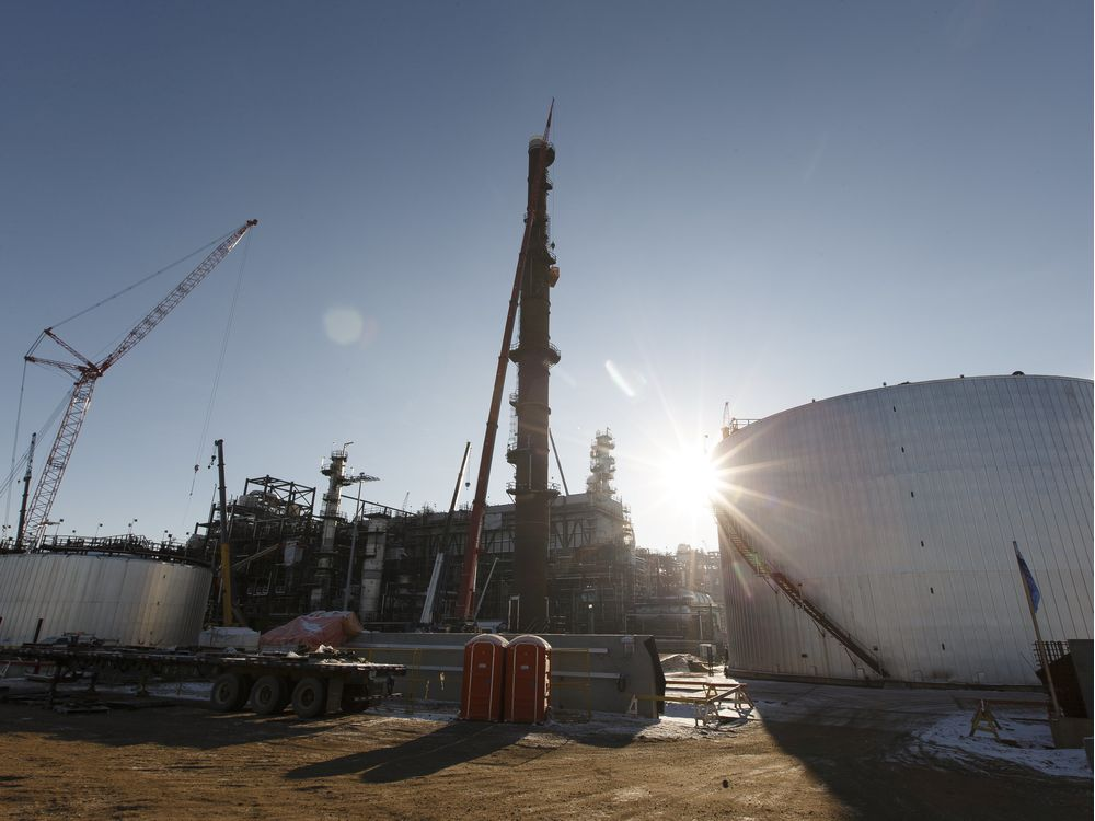 North West Redwater Partnership's Sturgeon Refinery is seen during a tour west of Fort Saskatchewan, Alberta on Thursday, November 24, 2016.