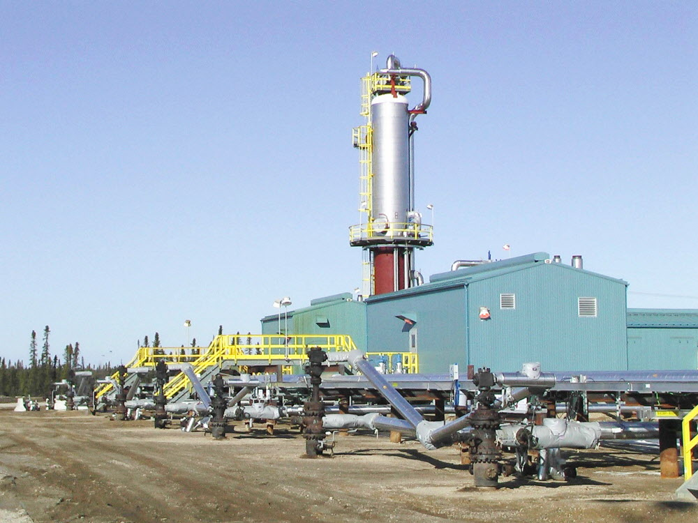 Pictured is a well at Suncor's Firebag project.