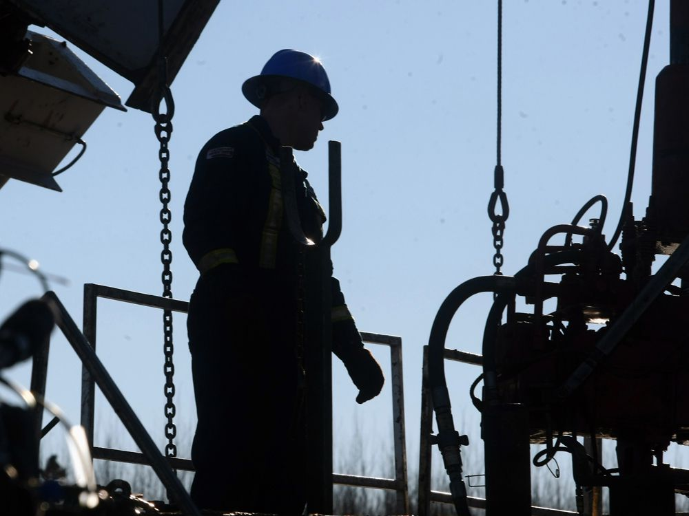 A worker on a Bonterra Energy drilling rig.
