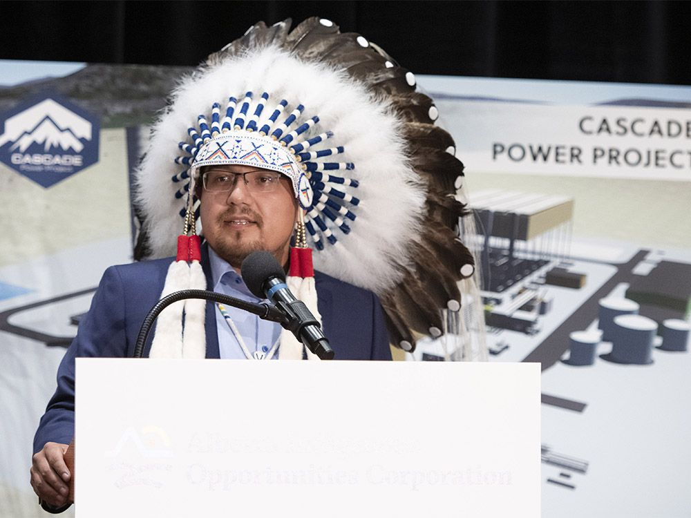 Premier Jason Kenney announced, in Edmonton on Wednesday, September 9, 2020, a major new Indigenous investment in natural resource development that will increase jobs and prosperity in Alberta. Pictured is Chief Billy Morin, Enoch Cree Nation.