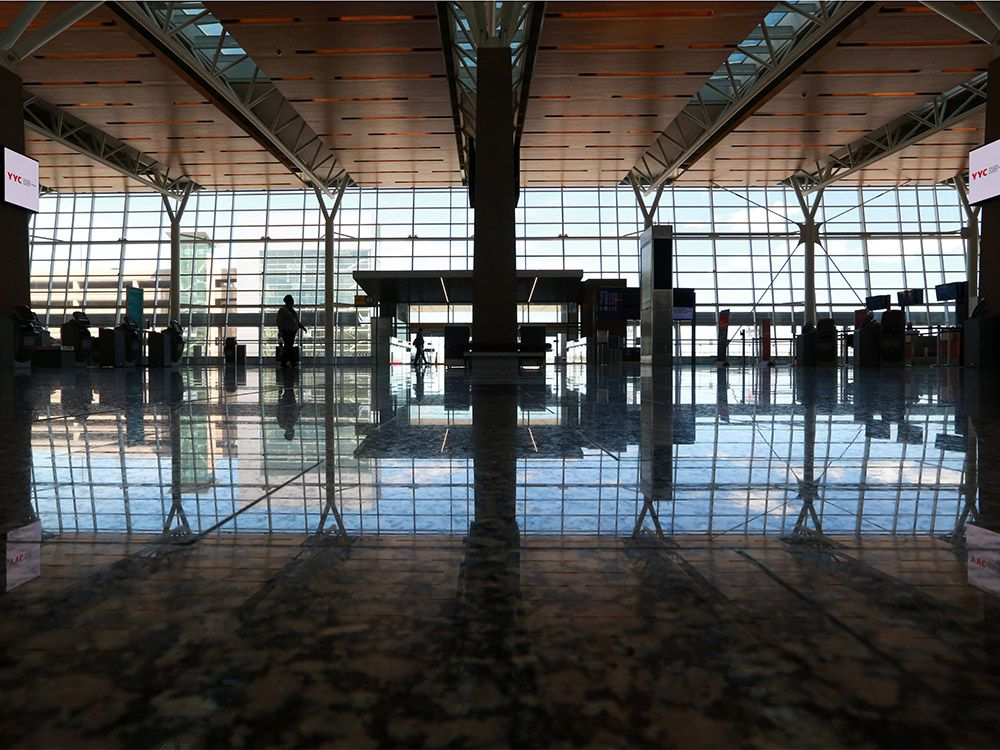 The closed and deserted international terminal at the Calgary International Airport was photographed on Wednesday, June 10, 2020.