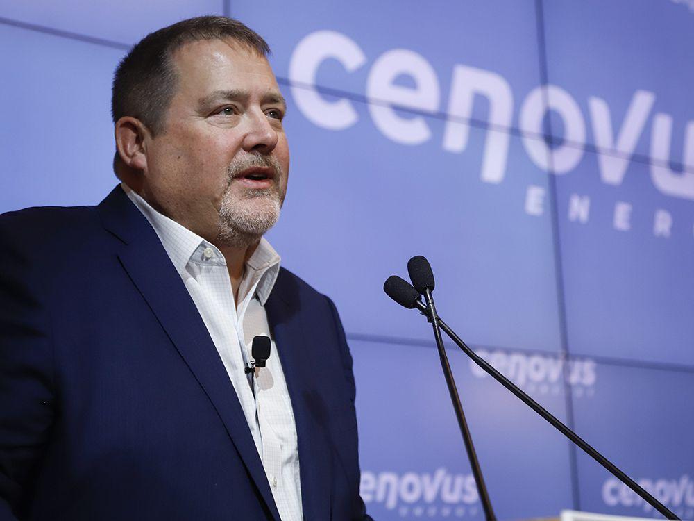 Cenovus CEO Alex Pourbaix at a news conference in Calgary, Alta., Thursday, Jan. 30, 2020.