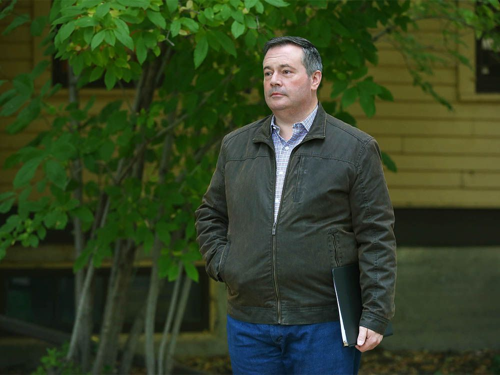 Alberta Premier Jason Kenney is pictured at Fish Creek Park in Calgary as he arrives for a press conference on Tuesday, September 15, 2020.