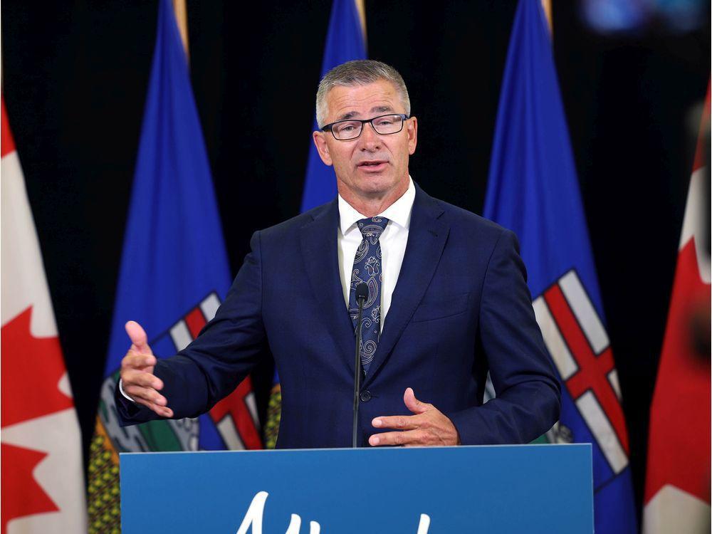 Alberta Finance Minister Travis Toews on Tuesday, Dec. 1, 2020.