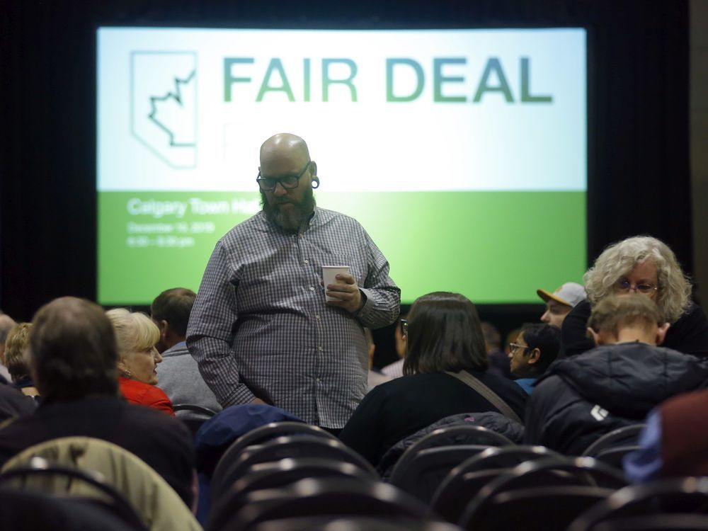 Alberta's Fair Deal Panel holds an open town hall meeting to a near sold-out crowd at the Commonwealth Centre in Calgary on Dec. 10, 2019.