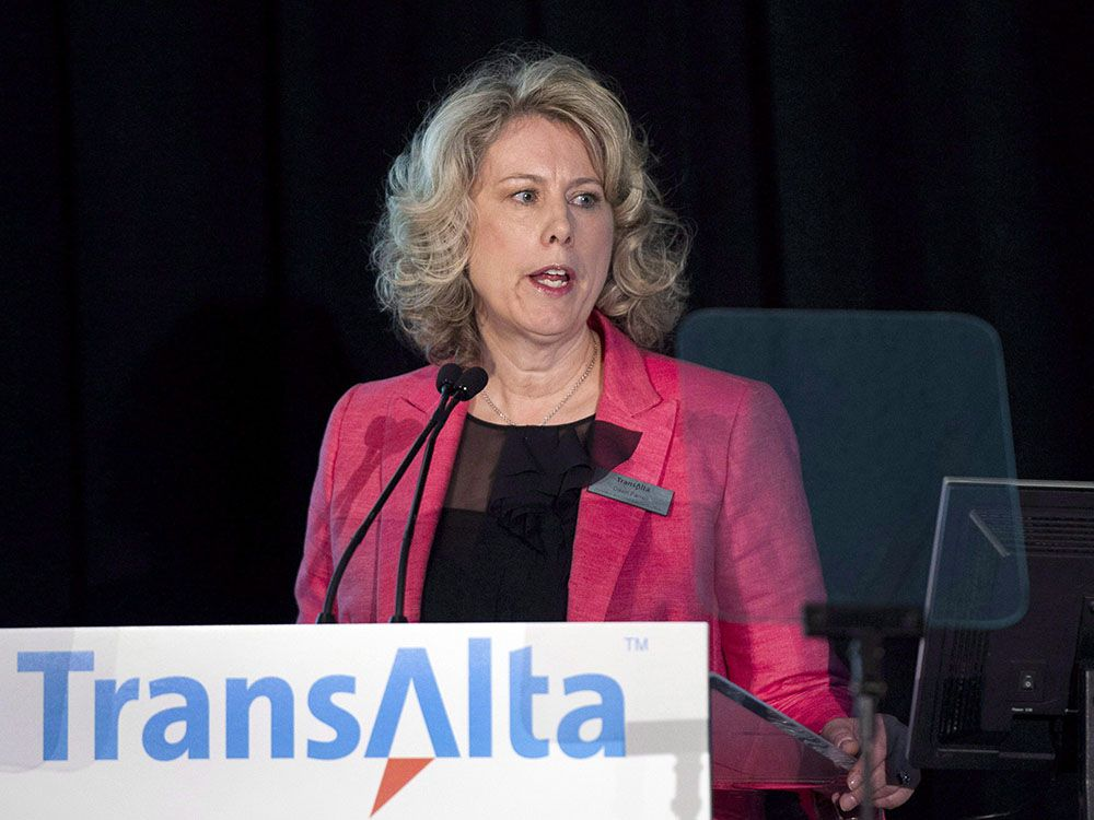 TransAlta Corp. CEO Dawn Farrell speaks during at the company's annual general meeting in Calgary on Tuesday, April 29, 2014.
