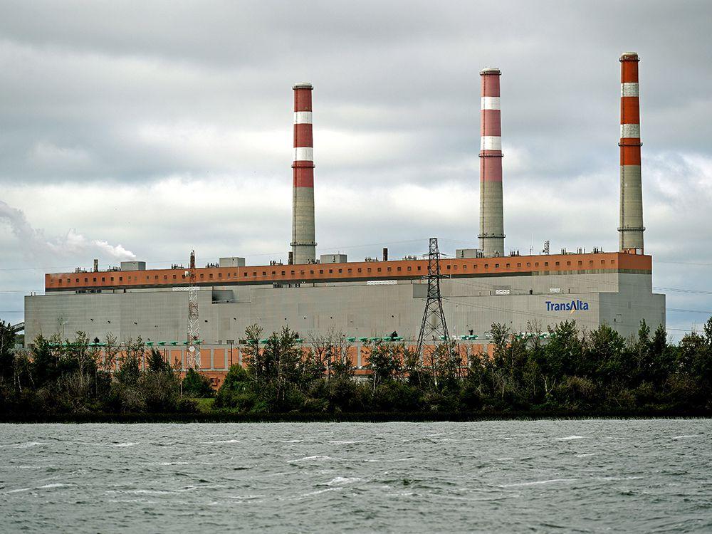 The TransAlta Utilities Sundance Generating Plant near Wabamun Lake on August 13, 2019.