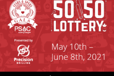 1 Million Jackpot Potential to be split between the Winner and STARS in the PSAC STARS and Spurs 50/50 Lottery: Ticket Details HERE: