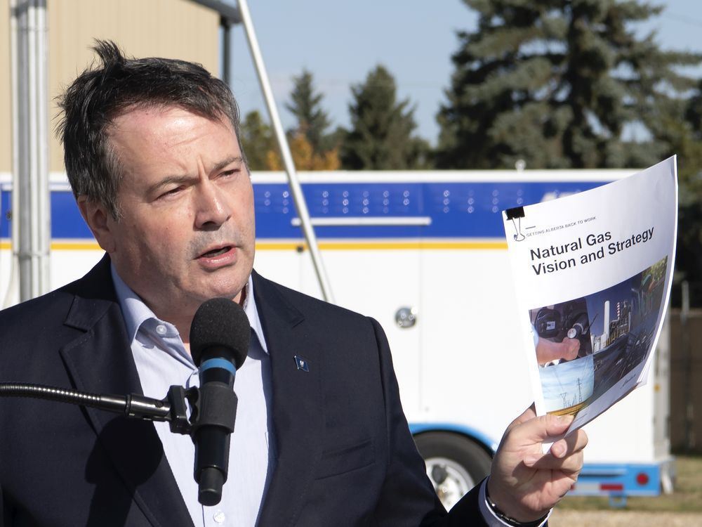 Premier Jason Kenney announced, in Edmonton on Tuesday, Oct. 6, 2020, a strategy to grow and expand the natural gas sector.