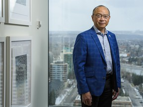 Andy Mah, CEO of Advantage Oil & Gas, photographed in his Calgary office.