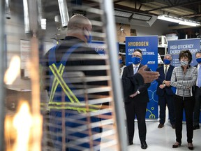 The Alberta government announces a strategy to expand the natural gas sector, in Edmonton on Oct. 6, 2020, and seize emerging opportunities for clean hydrogen, petrochemical manufacturing, liquefied natural gas and plastics recycling.